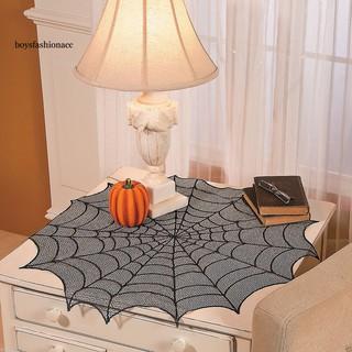 Khăn trải bàn hình mạng nhện trang trí tiệc halloween
