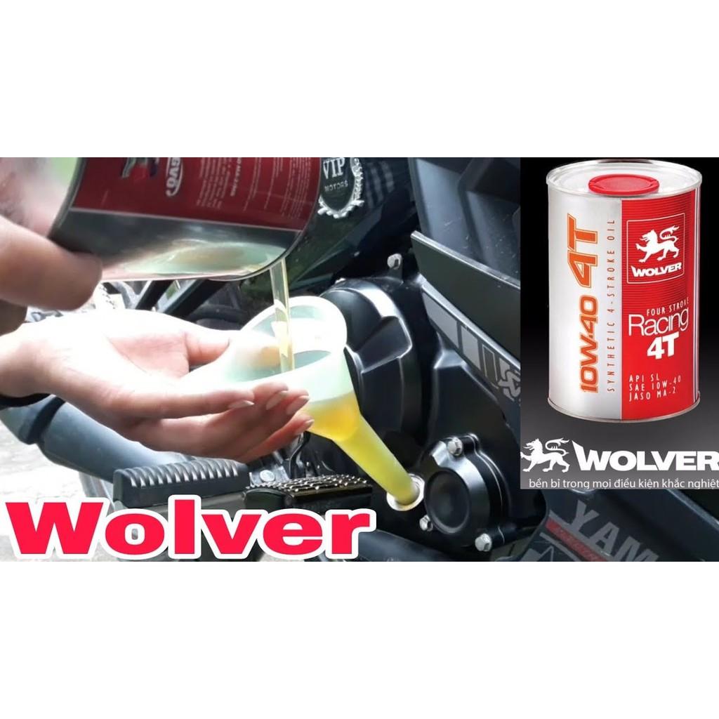 Wolver Racing 10W40 800ml - Nhớt xe máy cao cấp Nhập Đức