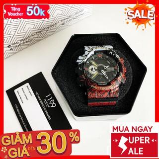 [QUÀ TẶNG] Đồng hồ nam - Đồng Hồ Thể Thao Năng Động Khung Viên Nhựa Đi Tắm Đi Mưa Thoải Mái 1A4LO - 1199 Watches