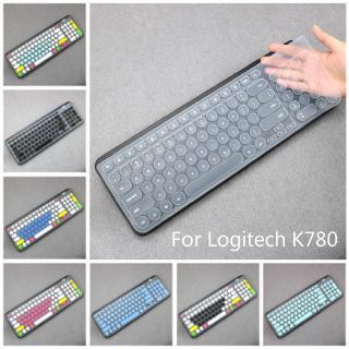 Miếng Dán Bảo Vệ Bàn Phím Bằng Silicon Siêu Mỏng Cho Logitech K780 thumbnail