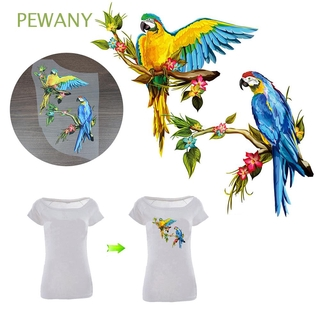 PEWANY Jeans Applique Iron On Clothes Sticker Patch DIY T-shirt Heat Transfer Thermal Parrot