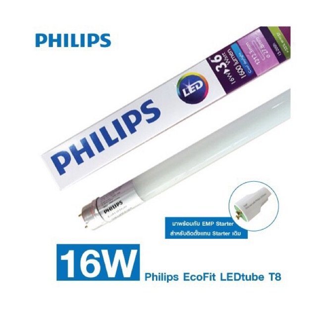 COMBO 10 bóng ecofit Led tube 18w 1m2 philips