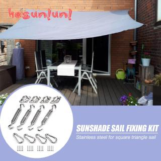 4pcs Sun Shade Sail Installation Hardware Kit Stainless Steel for Triangle Rectangle Tent Awning