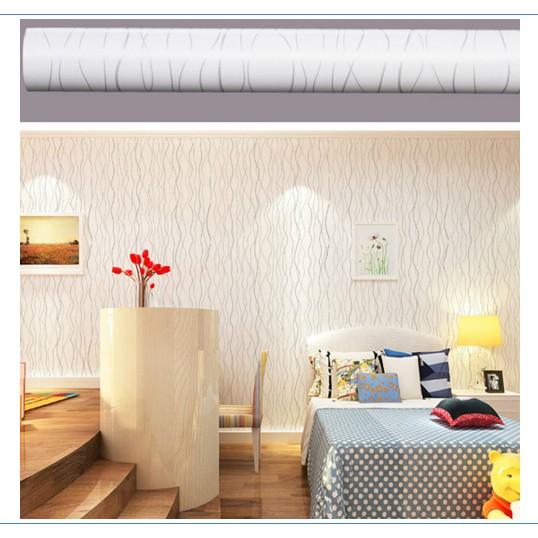 Decal giấy dán tường vân trắng