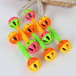 Hot Baby Kids Toy Rattle Bells Shaking Dumbells Early Childhood Educational Toys