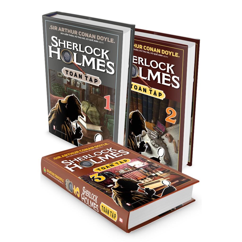 [Sale - Tặng tiền mặt 20k] Sách - Sherlock Holmes Toàn Tập Trọn Bộ 3 Tập (Bìa cứng)