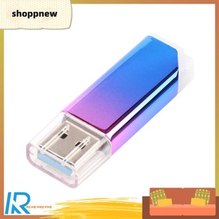 Shoppnew 8GB/16GB/32GB/64GB/128GB USB 3.0 Flash Drive Gradient Metal Memory Pendrive