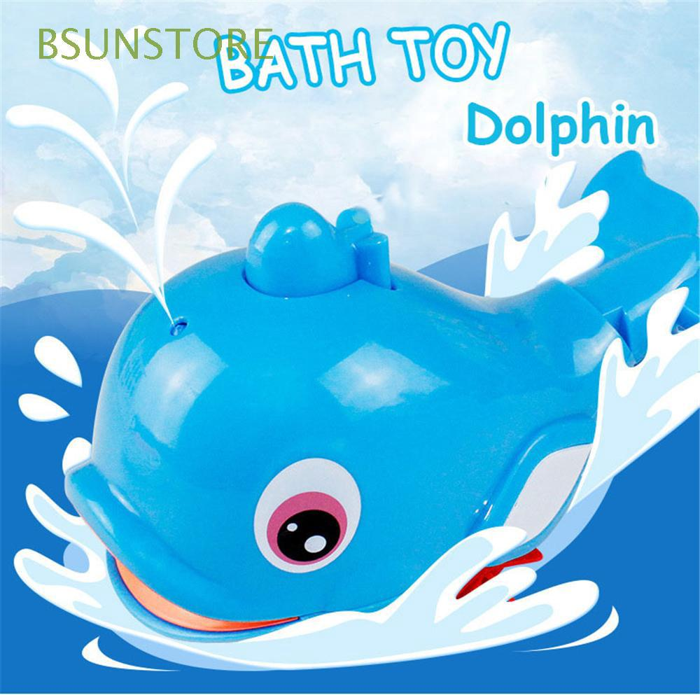1pcs Random Color Beach Kids Gift Wind Up Crab Dolphin Clockwork Bath Water Toy