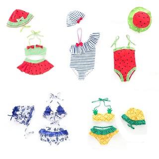 (CHỌN MẪU) Đồ bơi bé gái kèm mũ, bộ bơi 1 mảnh có nón, áo tắm 2 mảnh bikini 2 lớp dày dặn chống nắng chống lạnh cho bé thumbnail
