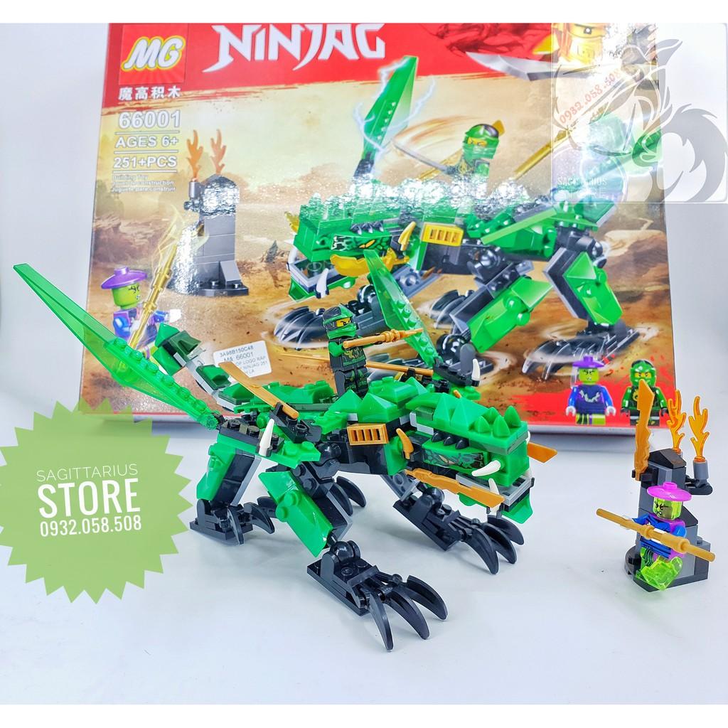 Lego MG Lắp Ráp Rồng Bay NinjaG 66001 ( Xanh Lá - 251 Mảnh )