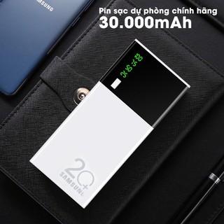 Sạc dự phòng 30000 mAh 2 cổng USB Sạc nhanh,màu trắng nhỏ gọn tiện lợi Tích Hợp Sạc Nhanh Fast Charge