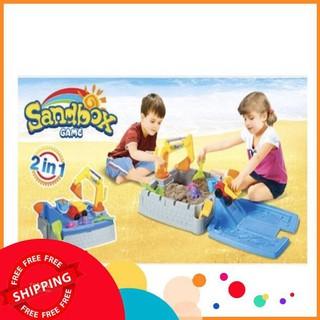 Đồ chơi cát động lực cao cấp 2 in 1, Đồ chơi xuất khẩu Mỹ an toàn cho bé