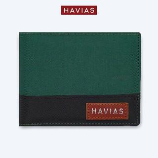 Ví Vải Modern Fabric Wallet HAVIAS - Xanh Lá Phối Đen