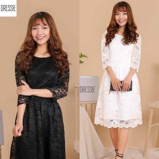 Váy Áo Đầm Ren Xòe DRESSIE Thời Trang Nữ Đẹp Công Sở Dạo Phố Dự Tiệc Cưới Xinh Xắn Công Chúa - DX69 thumbnail