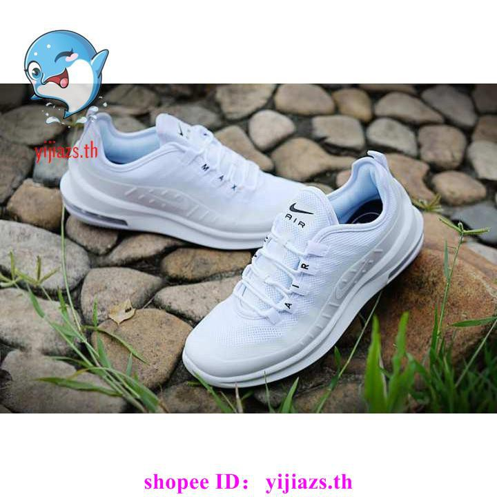 cod original NEW Nike Air Max Axis Men's and Women's Running Shoes Breathable ALL WHITE