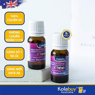 Thực phẩm bổ sung Vitamin D3 cho bé, dạng giọt của Úc Ostelin Infant Vitamin D3 Drops 2.4mL thumbnail