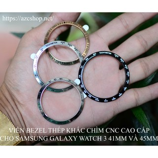 [HOT] Galaxy Watch 3 Viền Bezel Thép Khắc Chìm CNC - Tặng Kính Cường Lực Galaxy 41MM 45MM