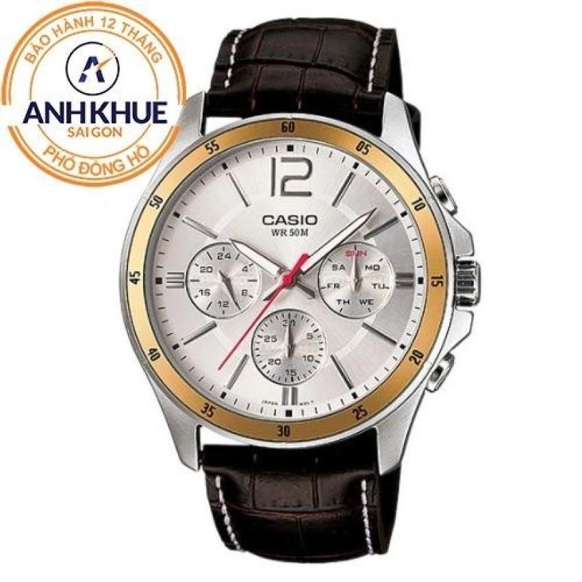 Đồng hồ nam dây da Casio Anh Khuê MTP-1374L-7AVDF