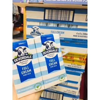 Thùng sữa tươi Devondale 200ml nội địa Úc (24 hộp) – mẫu mới nhất (2021)