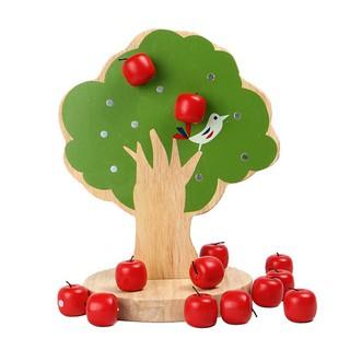 ღღ Apple Tree Wooden Counting Number of apples Educational Kids Toy Gift