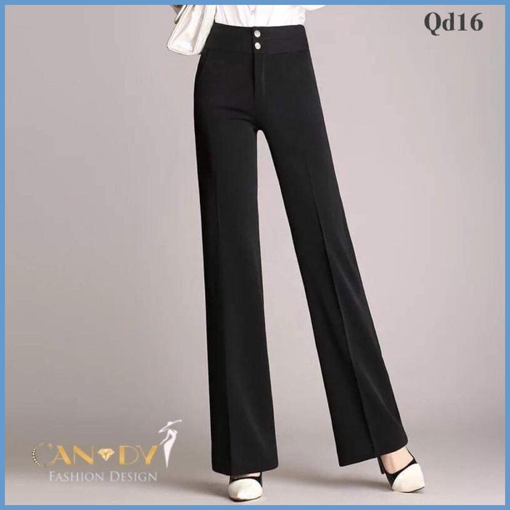 Mặc gì đẹp: Đẹp với Quần Công Sở Ống Suông Kiếu  Hai Khuy Túi Chéo  Qd16 - Candy Fashion