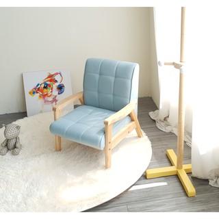 Ghế sofa tay gỗ trẻ em BNS8010-1P Ghế đơn Xanh dương nhạt