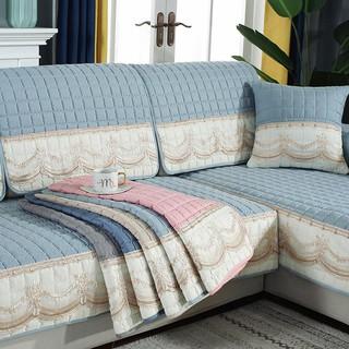 Đệm Lót Ghế sofa Vải Da Không Trượt Phong Cách Châu Âu Hiện Đại