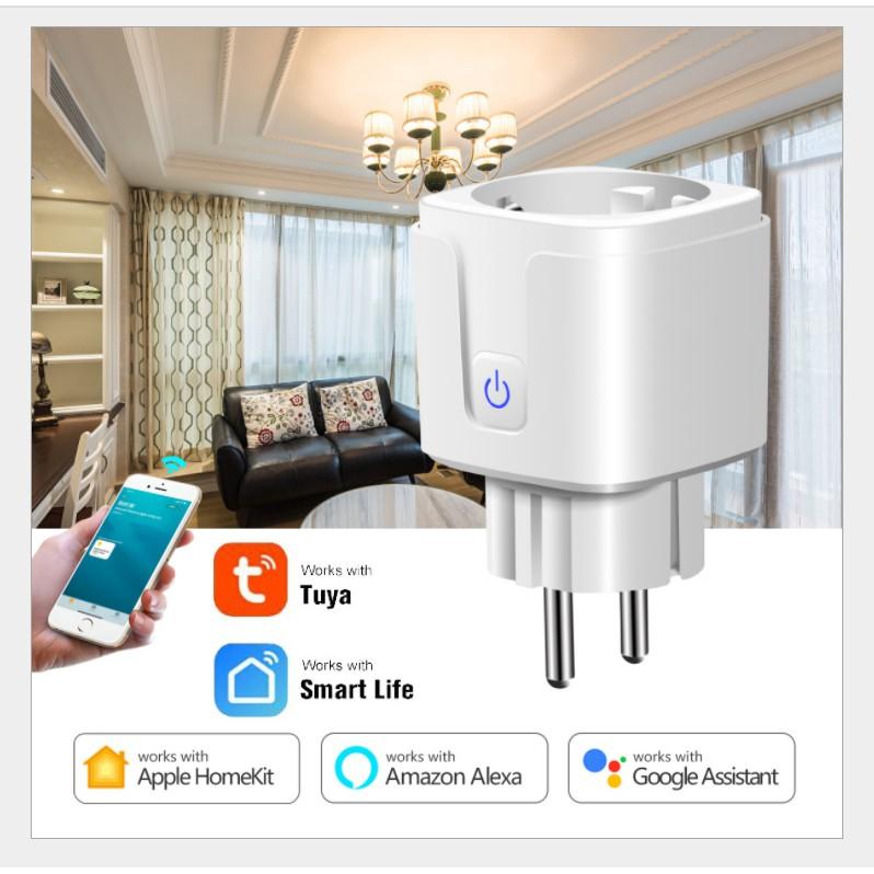 Ổ cắm wifi 3g 4gTuya – Smart life công tắc điều khiển từ xa wifi, công tắc wifi