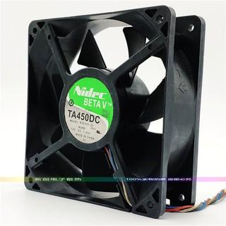 Quạt tản nhiệt thổi đít trâu, FAN 4U DC 12V 12cm 1.4A NIDEC TA450DC - B35502-35 12x12x3.8CM 12V 1.4A ĐÃ QUA SỬ DỤNG thumbnail