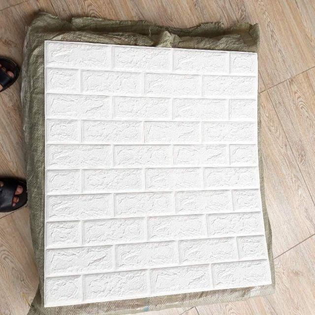 Xốp dán tường giả gạch 3D - Khổ 70x77 Dày 5mm