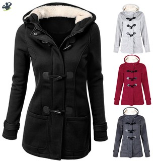 LL Women Outwear Winter Warm Hooded Coat Windproof Long Sleeve Thicken Parka @VN