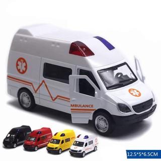 [Mã TOYJAN hoàn 20K xu đơn 50K] [nhiều mẫu]Mô hình xe bằng sắt âm thanh đèn trước hàng hộp
