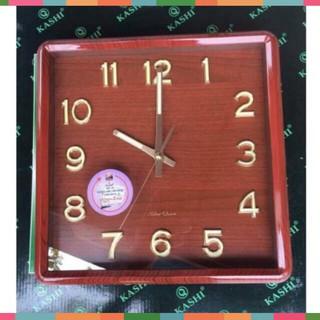 Đồng hồ treo tường Kashi HM325 mặt nâu kim trôi , số dạ quang