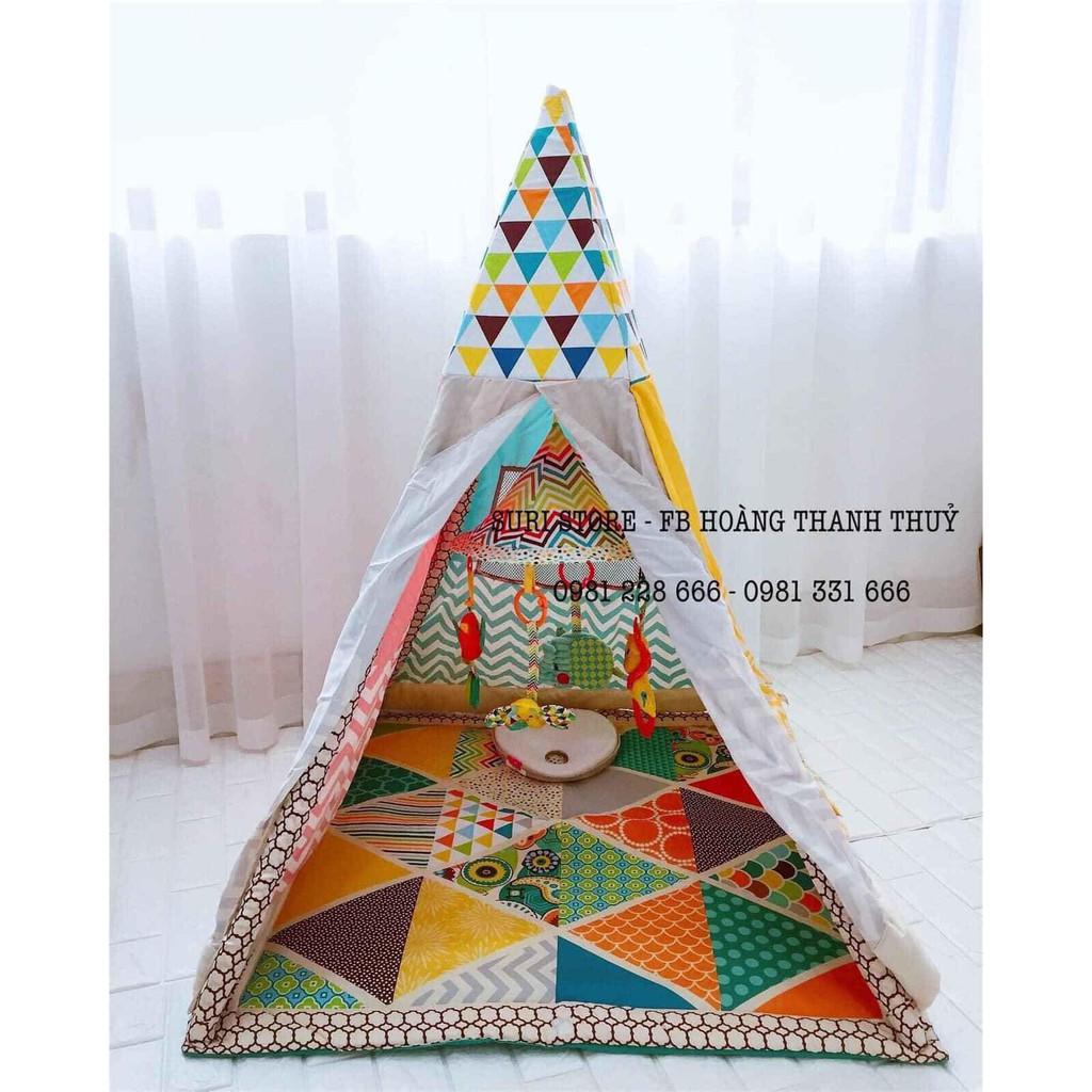 Nhà lều kèm đồ chơi treo cũi đa năng hình chú sâu xinh xắn Infantino
