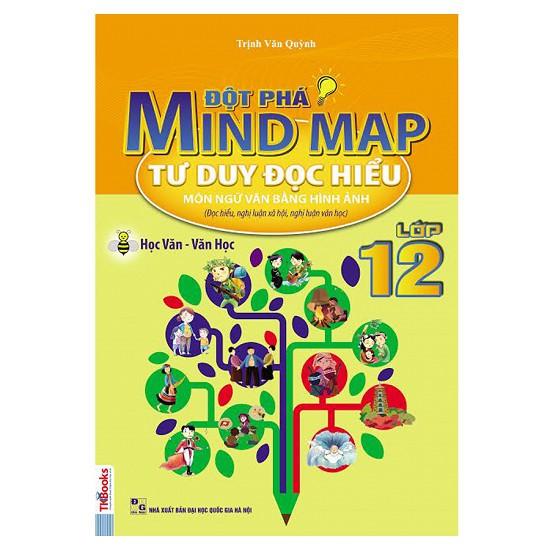 Sách - Đột Phá Mindmap - Tư Duy Đọc Hiểu Môn Ngữ Văn Bằng Hình Ảnh Lớp 12