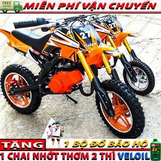 Cao cao mini 50cc ( Bánh Lớn ) trẻ em | Xe moto ruoi chạy bằng máy cắt cỏ xăng pha nhớt
