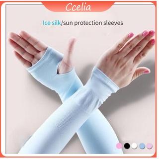 【CCelia 】Ice Silk Sleeves Men and Women Sun Protection Sleeves Ice Cool Summer Sun Protection Hand Sleeves for Men and Women Driving Ice Sleeve Arm Guards