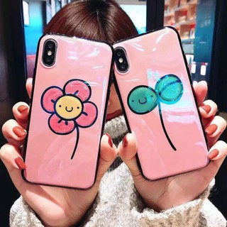 iPhone X 8 8Plus 7 6 Plus Women's Fashion Beautiful Glue Flower Back Case
