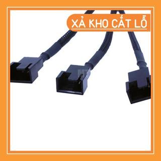 Cáp chuyển đổi Molex qua 3 đầu chia 3Pin/4Pin 12V chuyên dụng cho quạt tản nhiệt máy tính