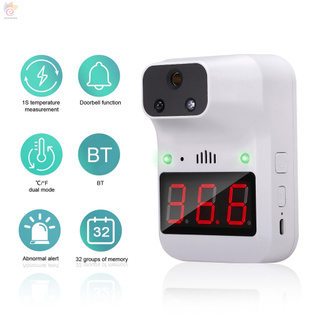 ET K3+ IR Non-Contact Thermometer °C/°F  Body/Surface/Counting Mode Wall Hanging/Bracket Fixing Powered by USB/3 AA Battery