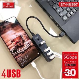 [Mã ELFLASH5 giảm 20K đơn 50K] Ổ Cắm USB HUB - 07 (Hỗ Trợ 3 Cổng USB 2.0 và 1 cổng USB 3.0)