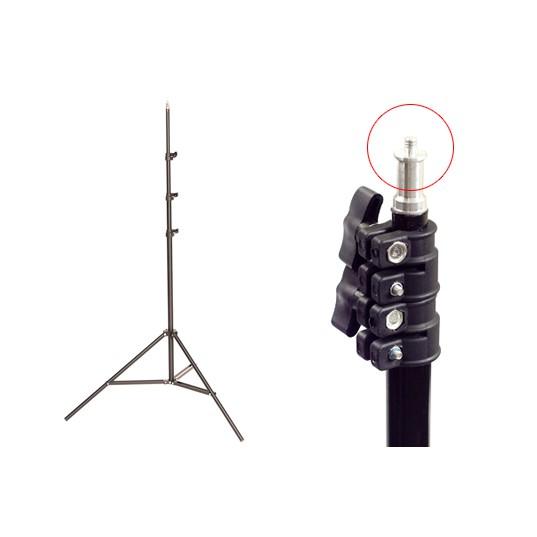 Chân Đèn livestream live thép cao tối đa 2m có thể hạ thấp xuống 70cm