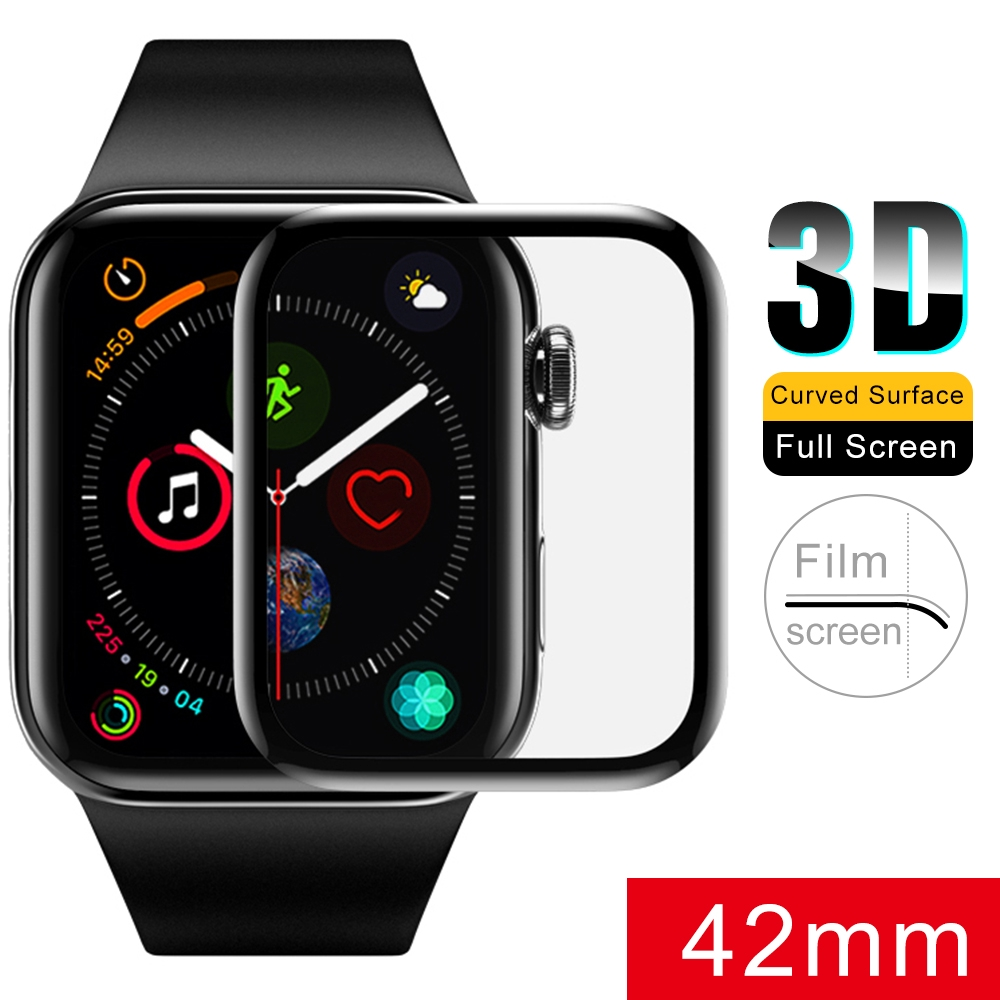 Hydrogel Film Note Glass For Apple iWatch 1 2 3 4 38 40 42 44mm 3D Curved Edge  Screen Protector Film