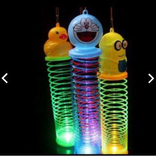 set 3 con Lò xo nhún rainbow hình thú có đèn