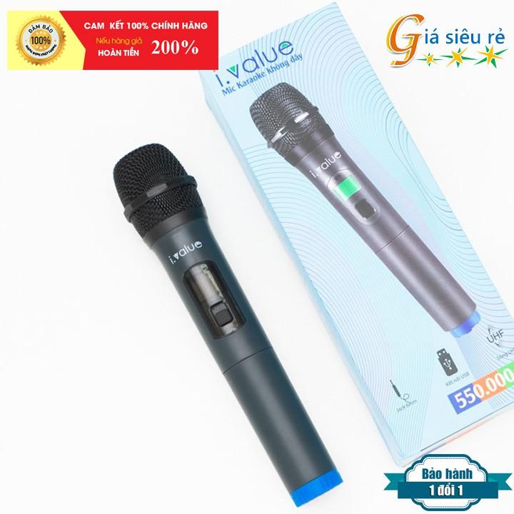 Micro karaoke Bluetooth không dây có đèn Led i.value W-18