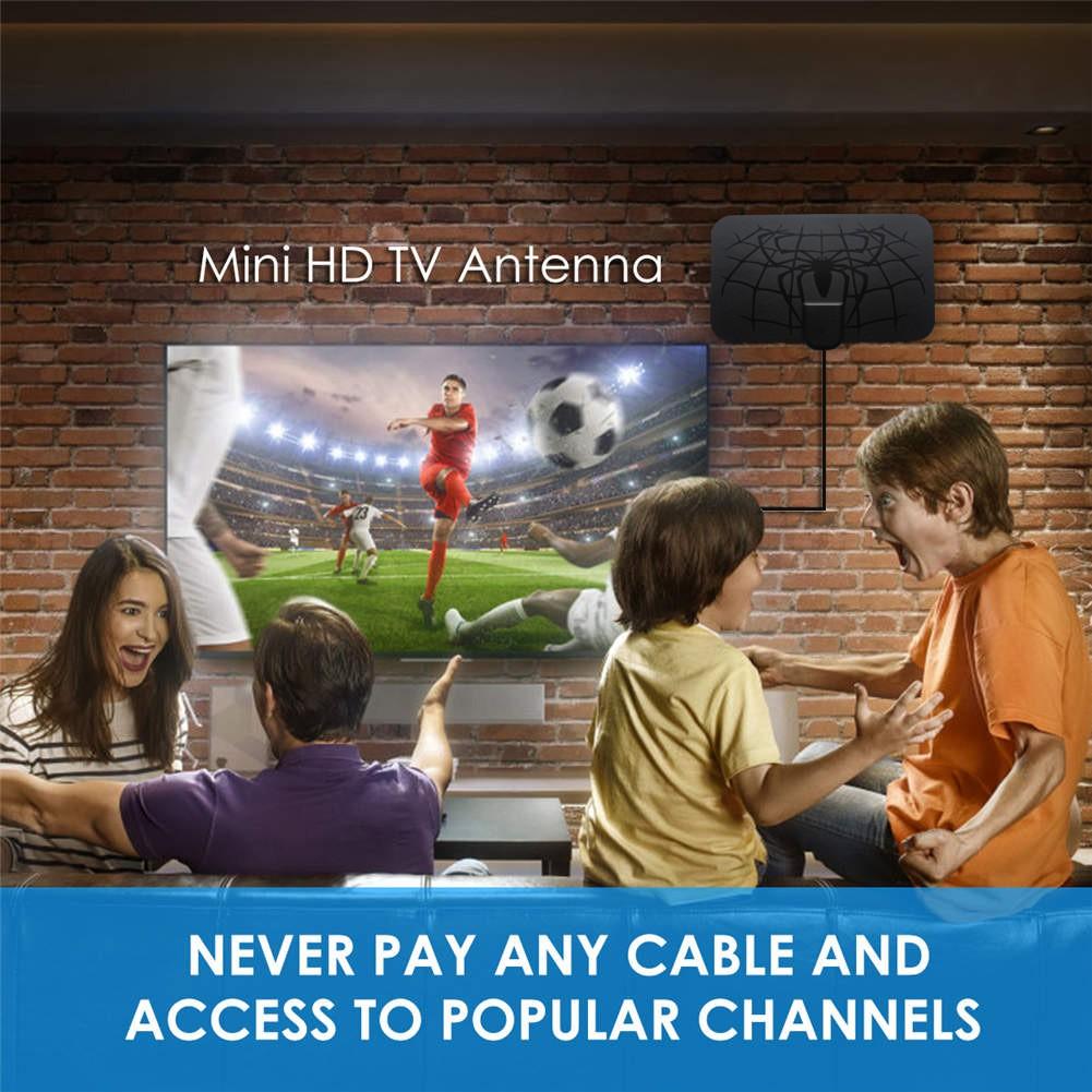 960 Miles Antena 1080P Digital HDTV Indoor TV Antenna with Amplifier Signal Booster TV Radius Surf Fox