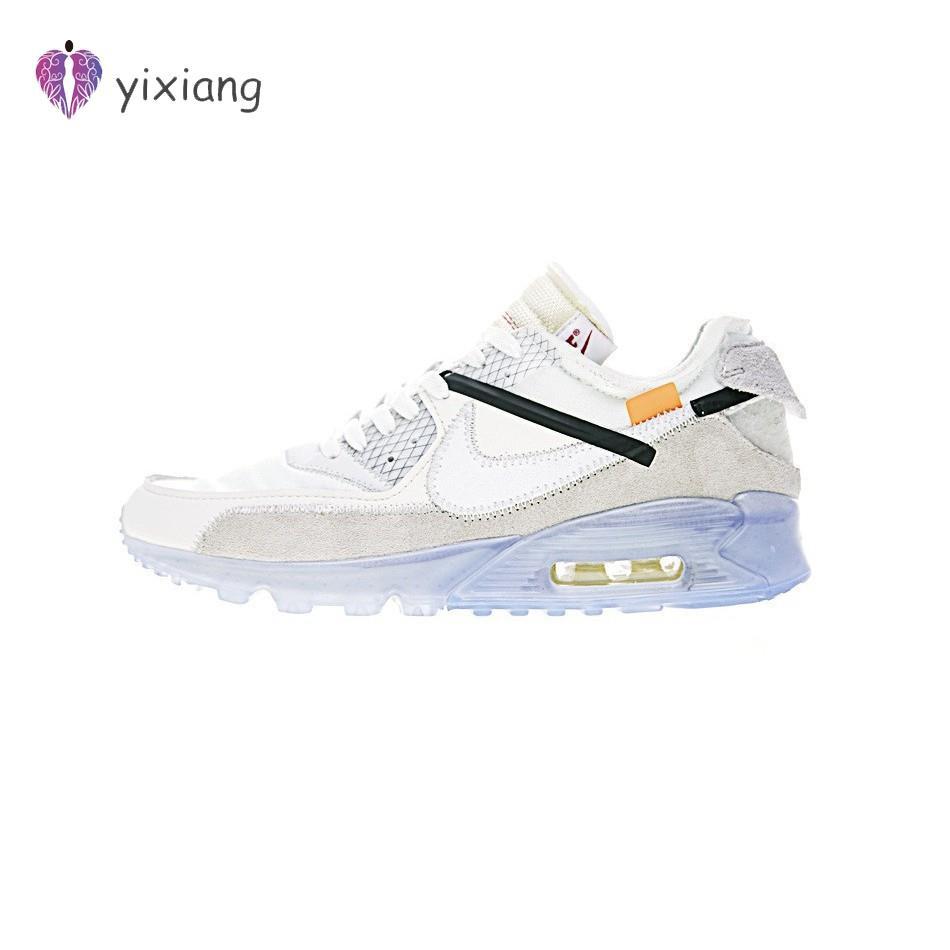 รองเท้าผ้าใบกีฬาสีขาว x Nike Air Max 90