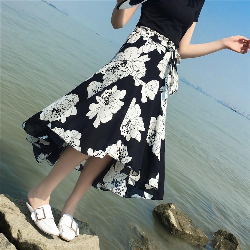 Chân váy Chiffon phong cách Bohomian