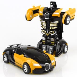 Kereta Mainan Budak Murah Mobil Robot Deformasi Dengan Transformation Car Toy