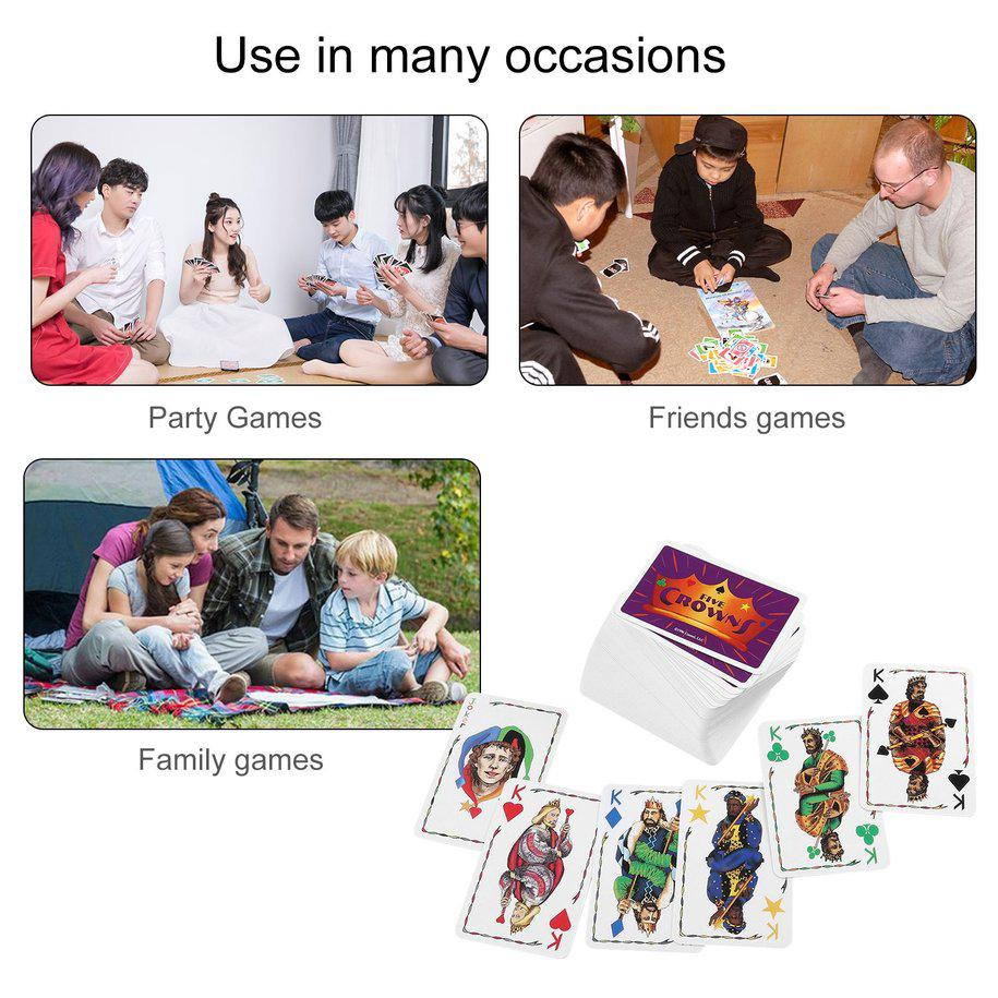 ☾☆Five Crowns Card Game Family Fun Playing Card Game Indoor Table Party Game